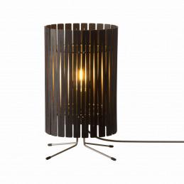 Wykonana ze sklejki lampa stołowa T2 w kolorze espresso marki Graypants