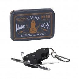 Solidne i praktyczne narzędzie Pocket Multi Tool with Flash Light Wild & Wolf