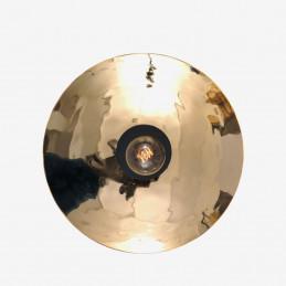 Szklana lampa ścienna Zenith Gold Radar interior