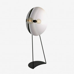 Szklana lampa podłogowa Zenith Radar