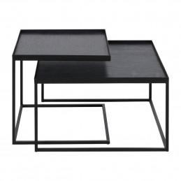 Geometryczny zestaw stolików kawowych Square tray Ethnicraft