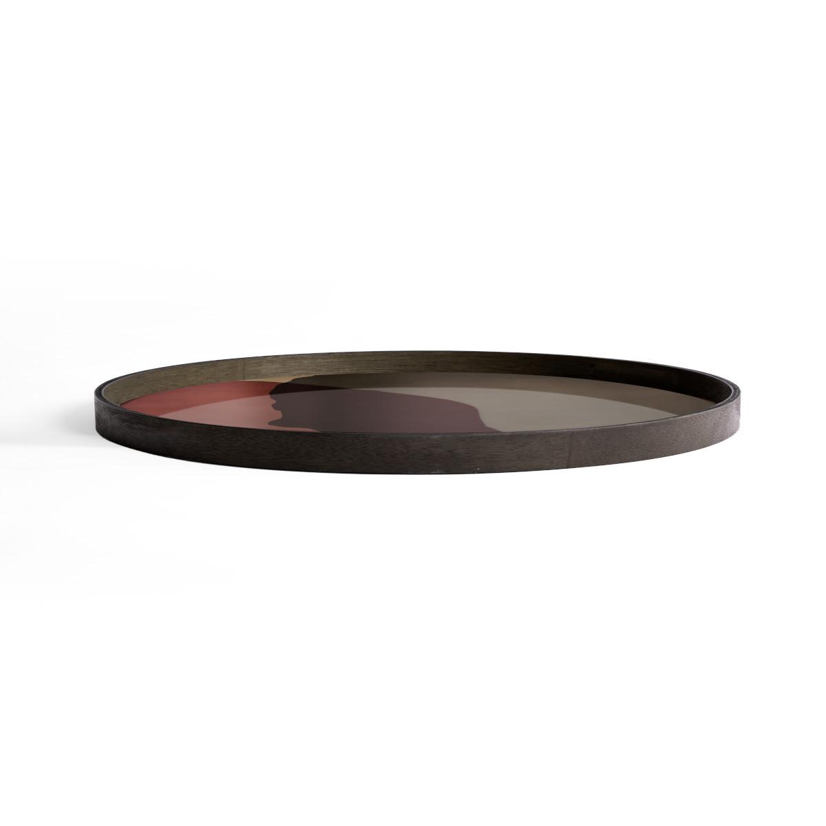Taca Pinot Combined Dots XL z drewnianą ramą - Ethnicraft