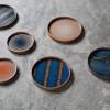 Kolekcja szklanych tac marki Ethnicraft