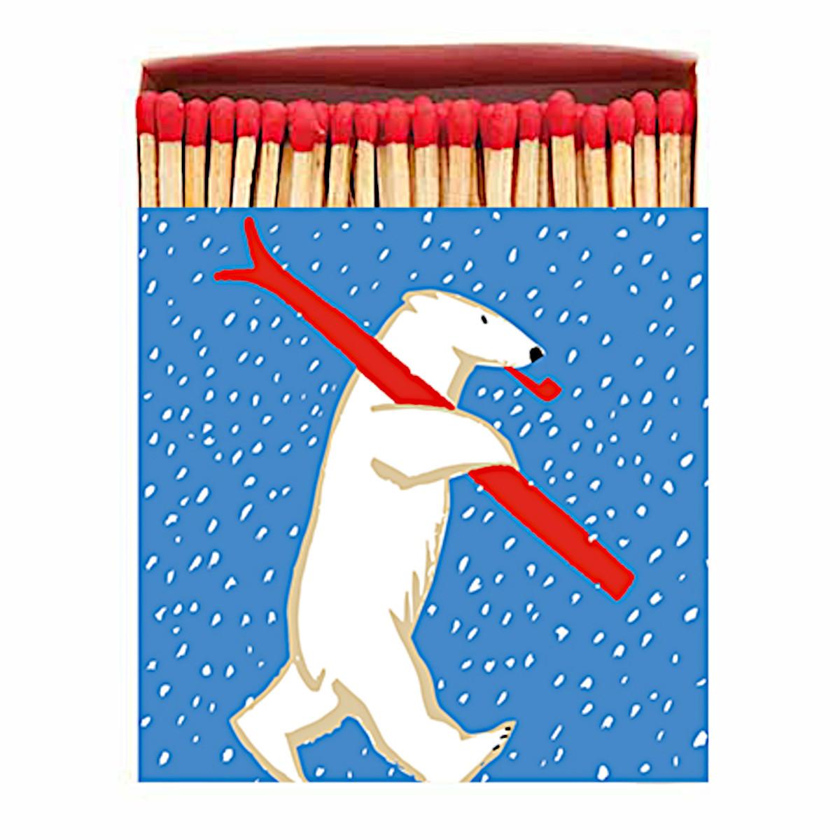 Zapałki Skiing Polar Bear Archivist