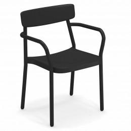 Czarny fotel ogrodowy Grace 281 Emu