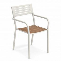 Biały fotel ogrodowy Segno 267 Emu