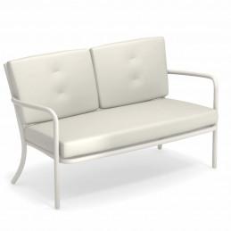 Biała sofa ogrodowa z poduszkami Athena 3417+C/3417 Emu