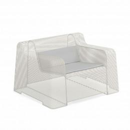 Stalowy fotel ogrodowy Ivy 585 z poduszką -  Emu