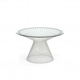 Biały stół ogrodowy okrągły Heaven 494+494/V Emu