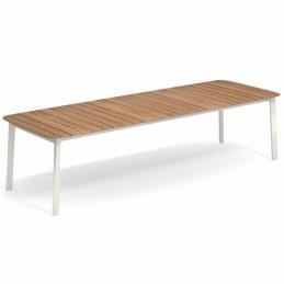 Aluminiowy biały stół rozkładany ogrodowy Shine 296 Emu