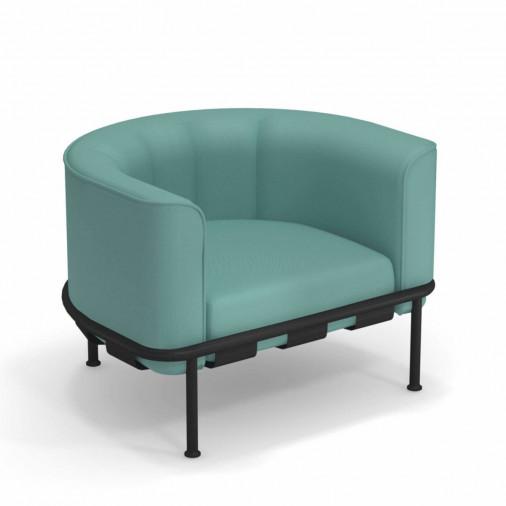 Fotel ogrodowy z poduszką Dock 744*+C705 Emu