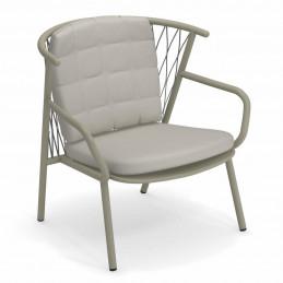 Solidny fotel ogrodowy z poduszką Nef 628+C/627 Emu