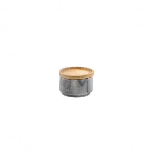 Szczelny i solidnie wykonany pojemnik z pokrywką Gray Marble & Wood Cellar Be Home