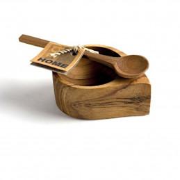 Drewniana misa z łyżką Be Home