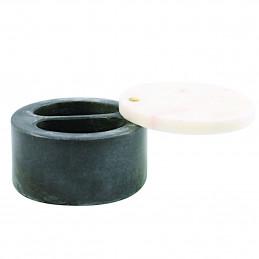 Marmurowy pojemnik z obrotową pokrywką White & Gray Marble Be Home