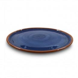 Ręcznie wykonany talerz Duzy 33cm Colorama Bleu Authentique Living