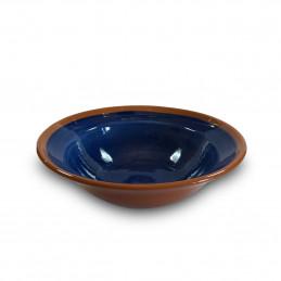 Ręcznie wykonany talerz Degustacyjny 20,5 cm Colorama Bleu Authentique Living
