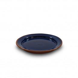 Ręcznie wykonany z gliny talerz Deserowy 20cm Colorama Bleu Authentique Living