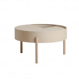 Funkcjonalny stolik kawowy Arc duży z obrotowym blatem marki Woud