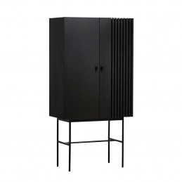 Czarna komoda Array Highboard 80cm Woud
