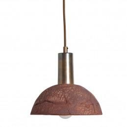Ceramiczna lampa wisząca Kauri Organic Ceramic Red Iron Mullan