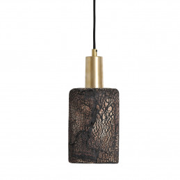 Lampa wisząca Senna Organic Ceramic Black Clay satin brass Mullan