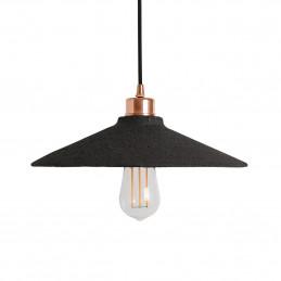Lampa wisząca Pyrus Organic Ceramic Black Clay polished copper Mullan