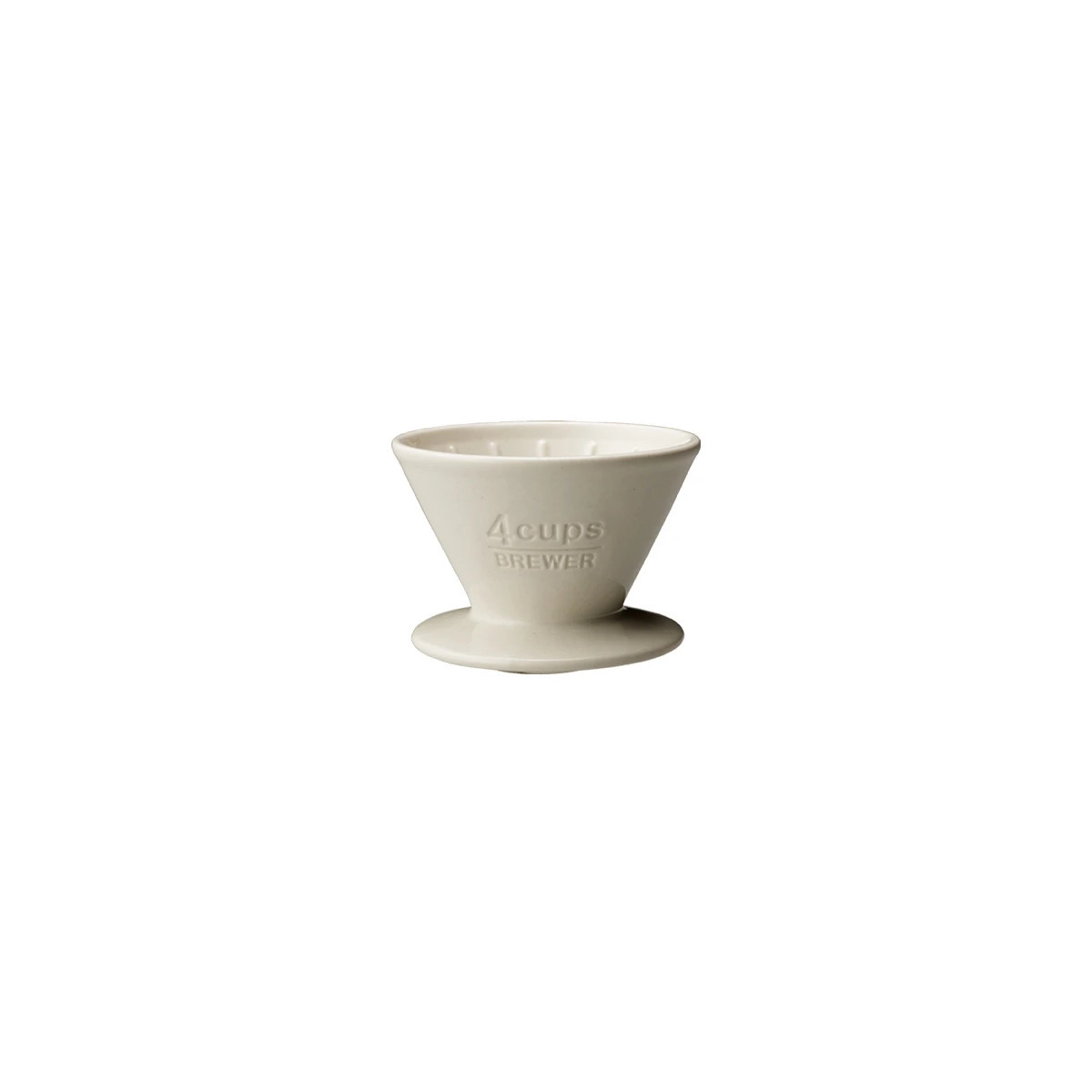 Porcelanowy dripper do kawy brewer 4cups white Kinto