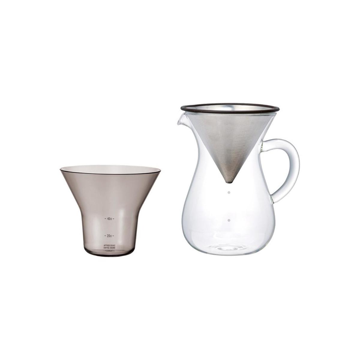Duży zestaw do parzenia kawy coffee carafe set 600ml Kinto