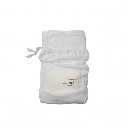 Lniana poszewka Washed Linen Optical White 40x40cm take a NAP