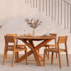 Aranżacja krzeseł ogrodowych Ethnicraft przy stole