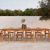 Aranżacja stołu ogrodowego Bok Ethnicraft z krzesłami