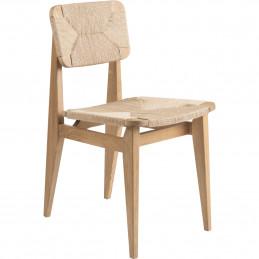 Drewniane krzesło z papierowego sznura C Gubi