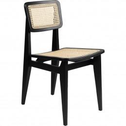 Czarne krzesło z francuskiej trzciny C Gubi