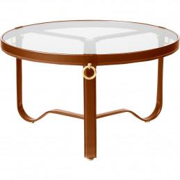 Brązowy stolik kawowy Adnet Ø70cm Gubi