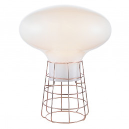 Miedziana lampa stołowa Opalix Cuivre Market Set