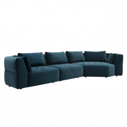 Sofa modułowa Cleo Sits z aksamitnym obiciem
