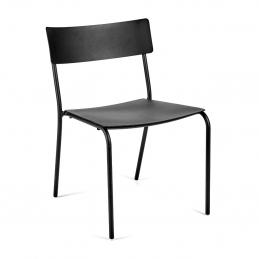 Krzesło niskie August Serax - aluminiowe, czarne