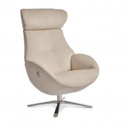 Tapicerowany tkaniną w kolorze evita pearl fotel Globe Quattro obrotowy z pamięcią Conform