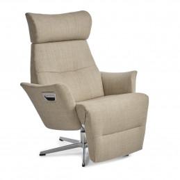 Fotel Beyoung z podnóżkiem obrotowy z pamięcią na aluminiowej podstawie - Conform
