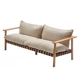 Sofa Brick NAP z luźno leżącymi poduszkami