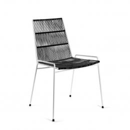Czarno-białe Krzesło Abaco Serax
