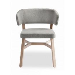 Szare krzesło Croissant 571 Billiani