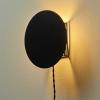 okrągła lampa Scudo z metalową podstawą
