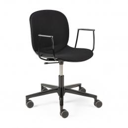 Krzesło z podłokietnikami RBM Noor Office black Ethnicraft