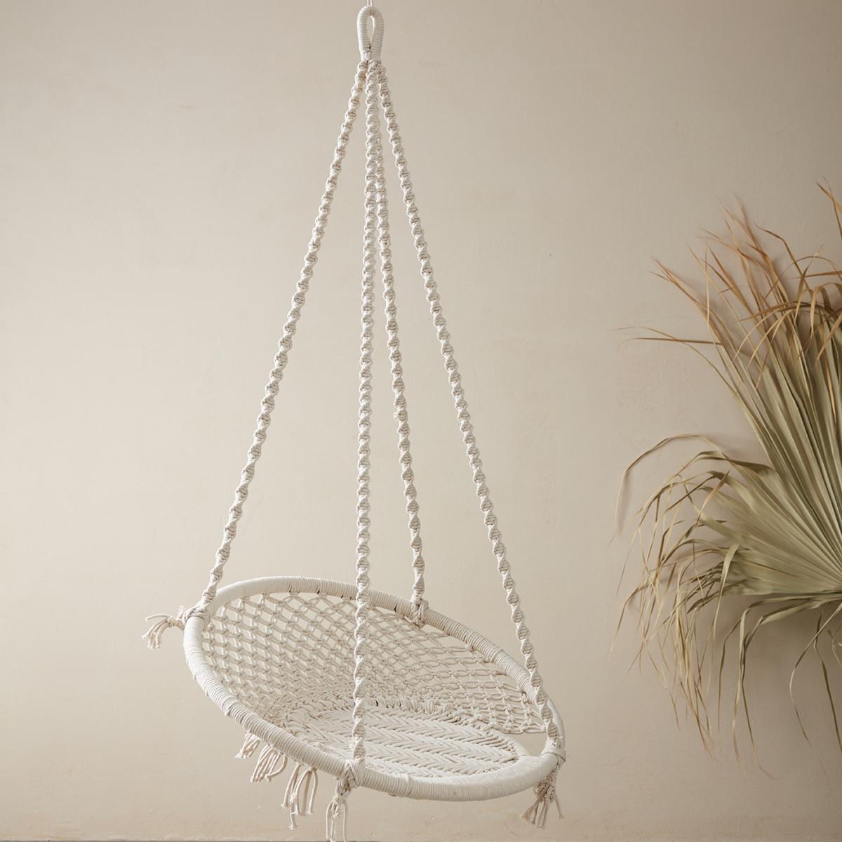 Hamak krzesło wiszące pojedyńcze z bawełny