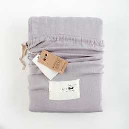 Komplet pościeli Washed Linen Light grey Take a NAP