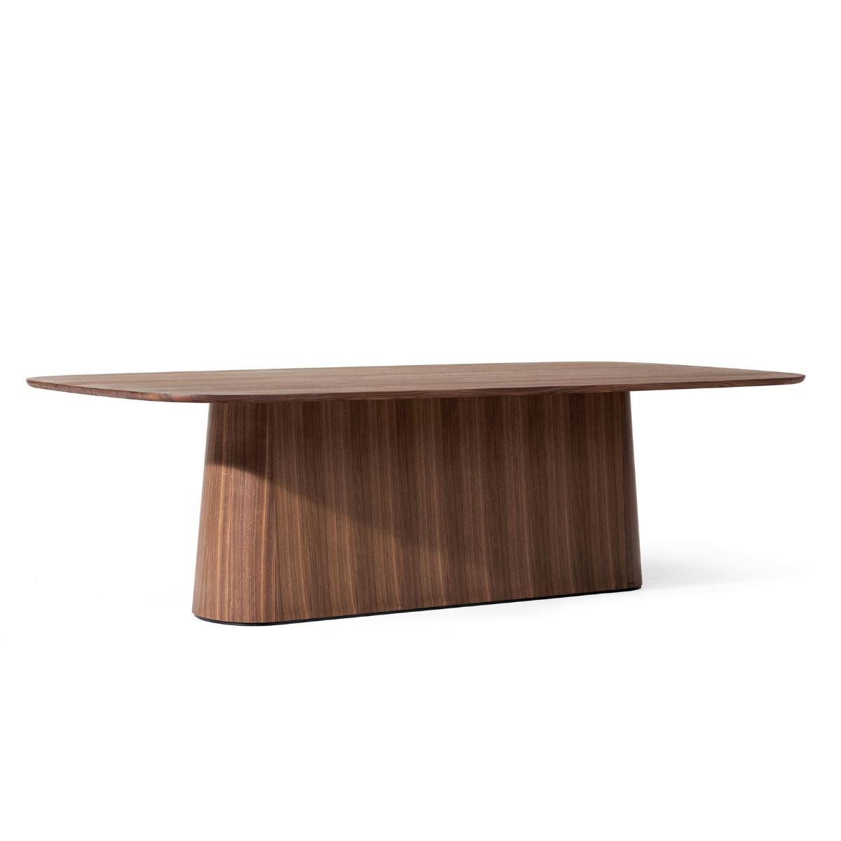 Stół P.O.V. 466 TON z ciemnego drewna z podłużną podstawą