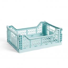 Plastikowa skrzynka M Arctic Blue Crate HAY
