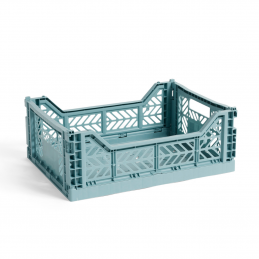 Plastikowa skrzynka M Teal Crate HAY